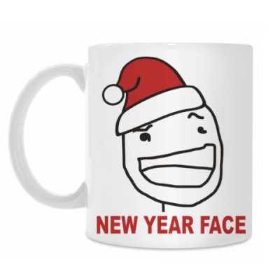 Кружка Новогоднее лицо