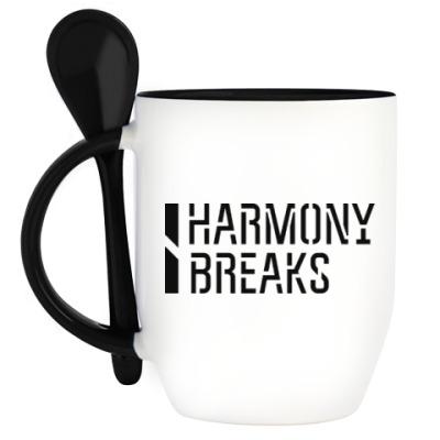 Кружка с ложкой Harmony breaks (line)