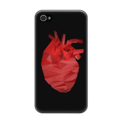 Чехол для iPhone 4/4s Сердце 3D