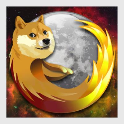 Постер Doge Firefox