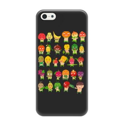 Чехол для iPhone 5/5s Фрукты, Овощи и Ягоды
