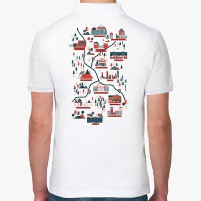 Рубашка поло Карта сериала Ходячие мертвецы