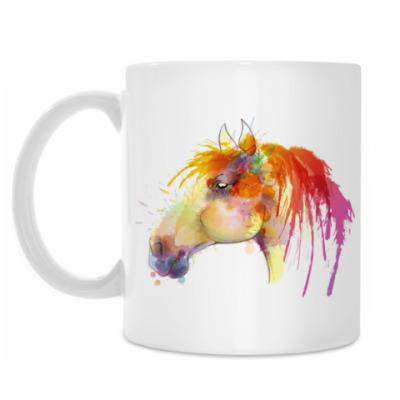 Кружка Лошадь краски