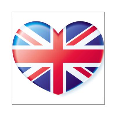 Наклейка (стикер) Флаг Великобритании