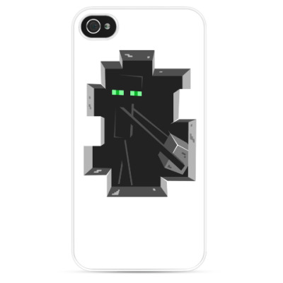 Чехол для iPhone Enderman . Minecraft