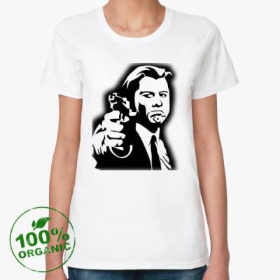 Женская футболка из органик-хлопка  Криминальное чтиво
