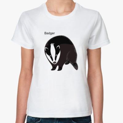 Классическая футболка Барсук