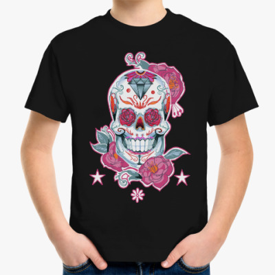 Детская футболка Flower skull