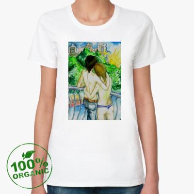 Женская футболка из органик-хлопка LGBT dyke Амстердам