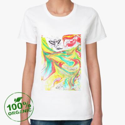 Женская футболка из органик-хлопка Расцветение