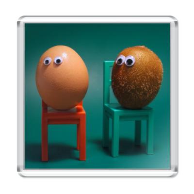Магнит Киви и яйцо