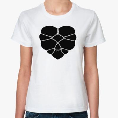 Классическая футболка Связанное сердце #1-1
