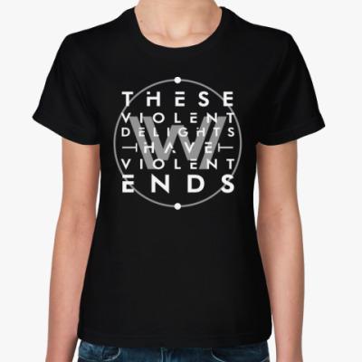 Женская футболка Мир Дикого запада
