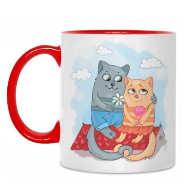Кружка Влюбленные коты