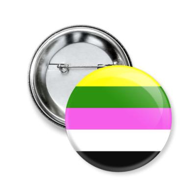 Значок 50мм Цетеросексуальность/сколиосексуальность