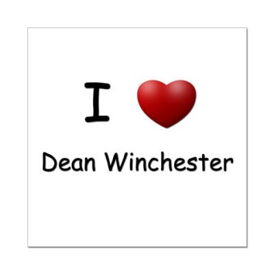 Наклейка (стикер)  I Love Dean