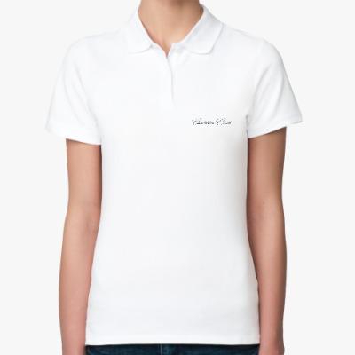 Женская рубашка поло Женская рубашка поло, белая ПЕЧАТЬ