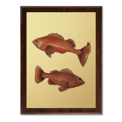 Плакетка Красные рыбы