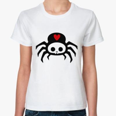 Классическая футболка Spider Skul