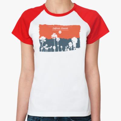 Женская футболка реглан Город в Калифрнии (USA)