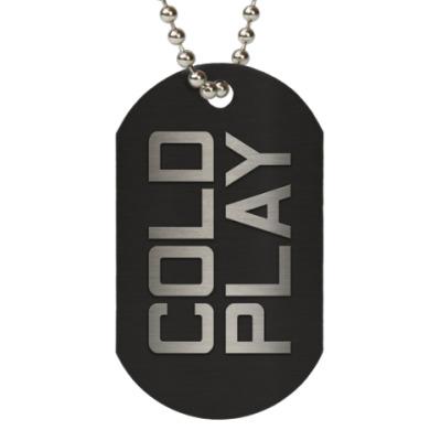Жетон dog-tag Coldplay