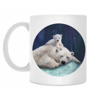 Кружка Полярные белые медведи