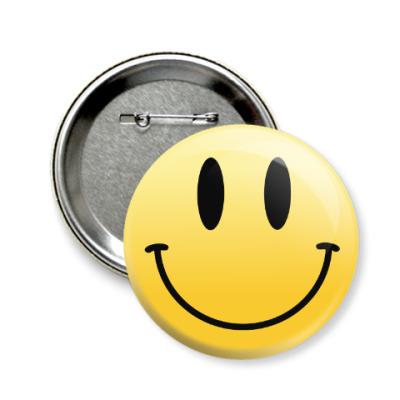 Значок 58мм Smile