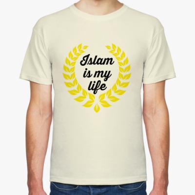 Футболка Мужская футболка Fruit of the Loom, неокрашенный хлопок
