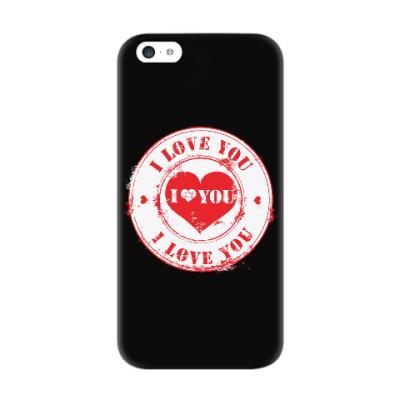 Чехол для iPhone 5c Печать I Love You