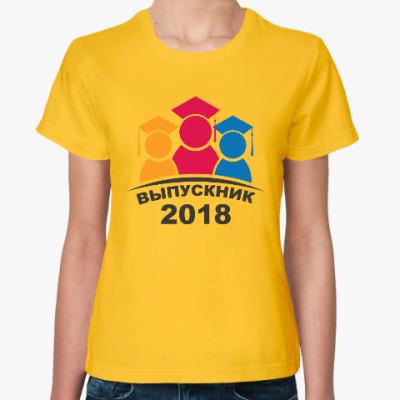 Женская футболка Выпускник 2018