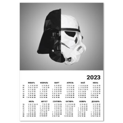 Календарь Star Wars: Вейдер и Штурмовик