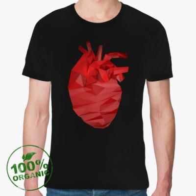 Футболка из органик-хлопка Сердце 3D