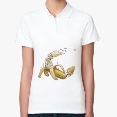 Женская рубашка поло Разрезанный банан