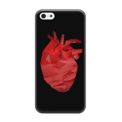 Чехол для iPhone 5/5s Сердце 3D
