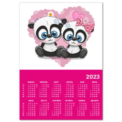 Календарь Маленькие панды