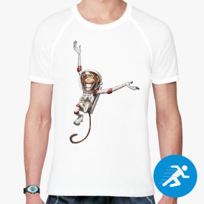 Спортивная футболка Обезьянка Космонавт