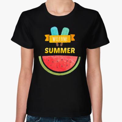 Женская футболка Лето. Welcome Summer