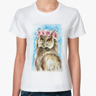 Классическая футболка Совушка