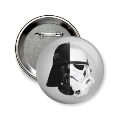Значок 58мм Star Wars: Вейдер и Штурмовик