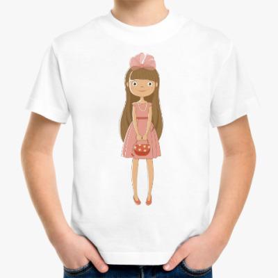 Детская футболка Девочка с сумочкой