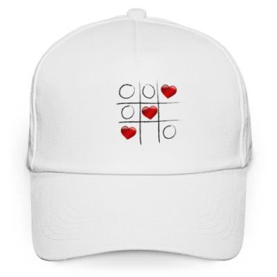 Кепка бейсболка Любовные крестики - нолики