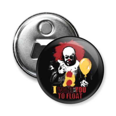 Магнит-открывашка Clown It by Stephen King