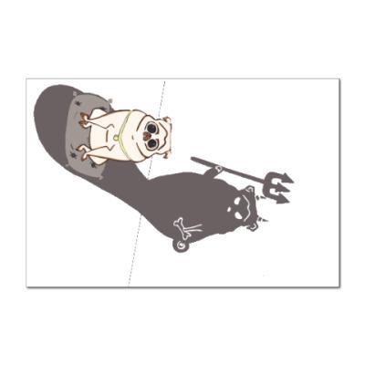 Наклейка (стикер) Мопс
