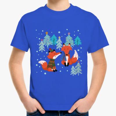 Детская футболка С лисами