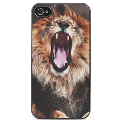 Чехол для iPhone Лев зевает