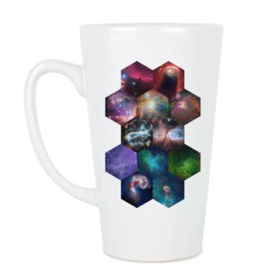 Чашка Латте Космический гексагон