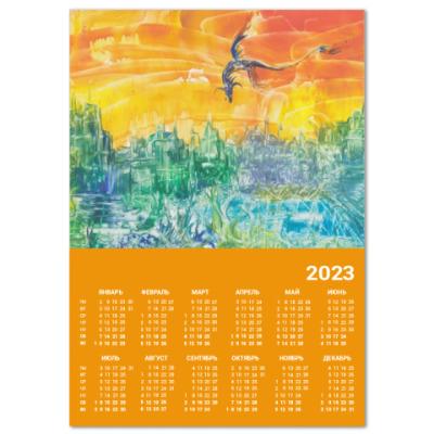 Календарь  Дракон над городом