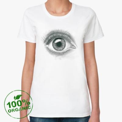 Женская футболка из органик-хлопка 'Глаз'
