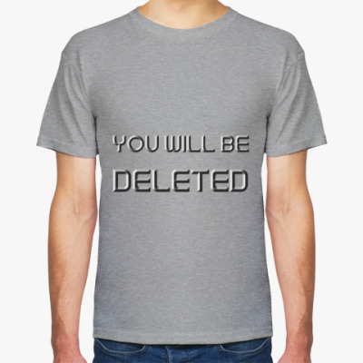 Футболка You will be DELETED Doctor Who