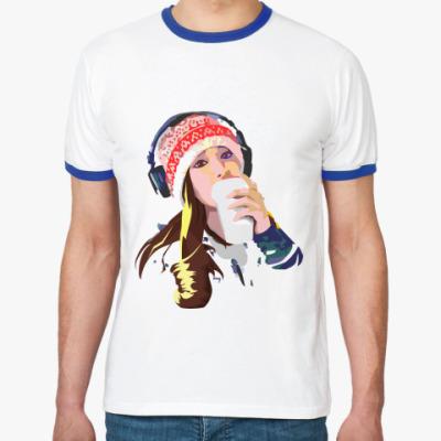 Футболка Ringer-T девушка в наушниках